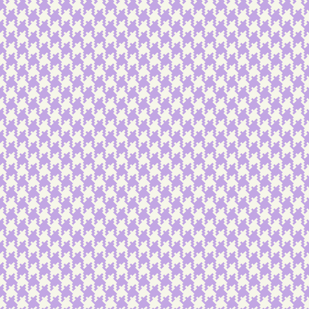 Vector houndstooth fabric seamless pattern.