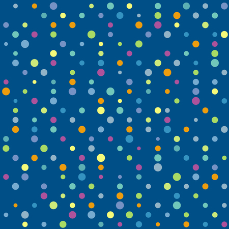 Abstract vector colorful dotted background. Seamless multicolor dots pattern Иллюстрация