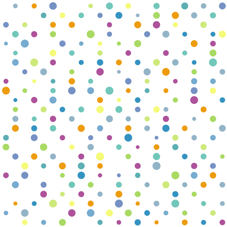 Abstract vector colorful dotted background. Seamless multicolor dots pattern Ilustração