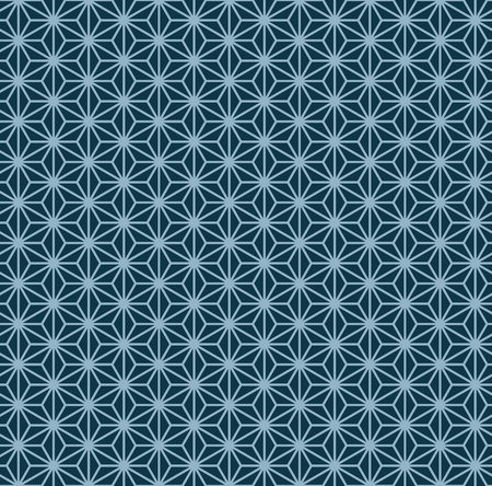 Geometric ornament in two colors, modern stylish texture, can be used in fashion industry for textile print or decor Ilustração