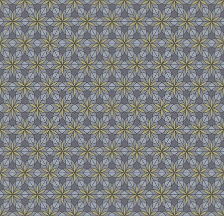 Geometric ornament in dark colors, modern stylish texture, can be used in fashion industry for textile print or decor