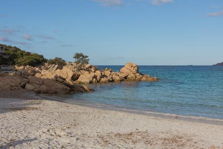 Costa Smeralda seascape with rocks and beautiful turquoise water. Beach in Sardinia island, Italy 版權商用圖片 - 123269463
