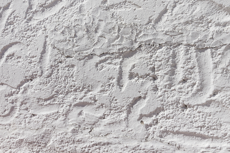 White stucco wall texture background. Plaster wall in Mediterranean style. Architectural element