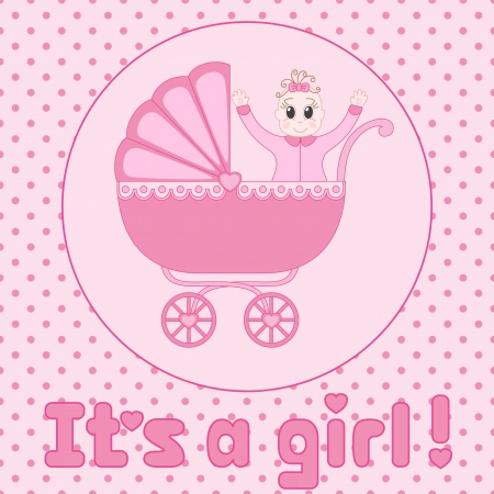 it s a girl: It s a girl baby shower announcement