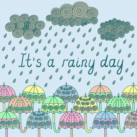 It s a rainy day vector image Vector
