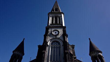 In front of Ste Thérèse Church, Curepipe, Mauritius
