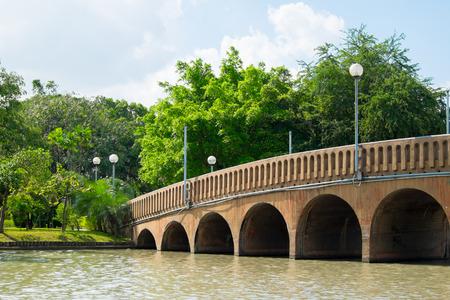stourhead: the bridge in the public garden