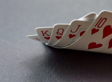royal flush: royal flush Stock Photo
