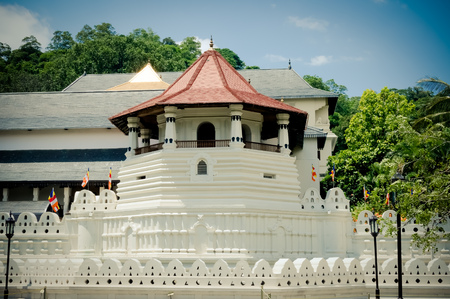 Sri Dalada Maligawa  the Temple of the Sacred Tooth Relic Kandy Sri Lanka Stock Photo