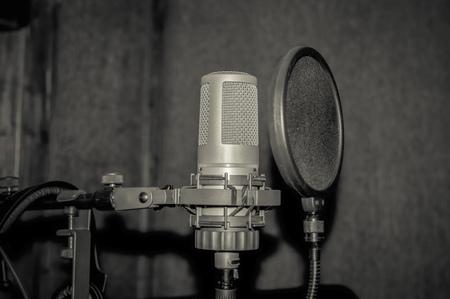 condenser: Professional condenser studio microphone Stock Photo