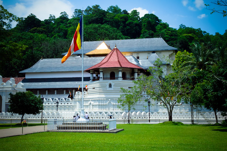 temple tank: Sri Dalada Maligawa  the Temple of the Sacred Tooth Relic Kandy Sri Lanka Stock Photo