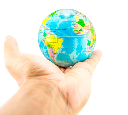 world at your fingertips: earth on hand
