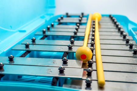 xilofono: Xilófono, Glockenspiel, azul Instrumento musical