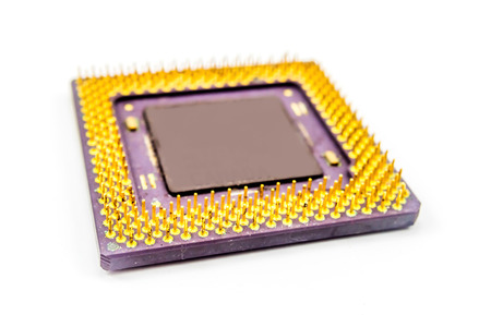 old CPU one white background Imagens - 45520535