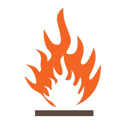 riesgo biologico: Icono de Frammable en vector en fondo aislado Vectores