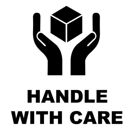 Handle with care icon vector design Vector Illustration