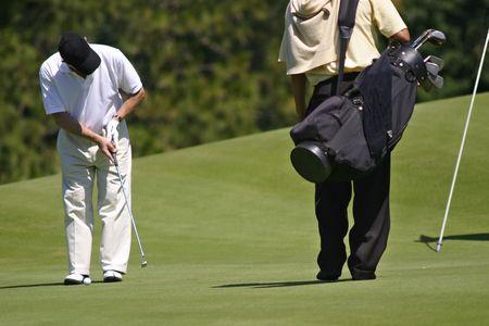 driving range: Player hitting a golf ball