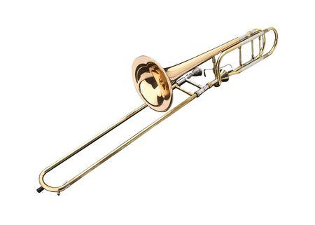 trombon: Lat�n tromb�n en una presentaci�n de antecedentes whithe