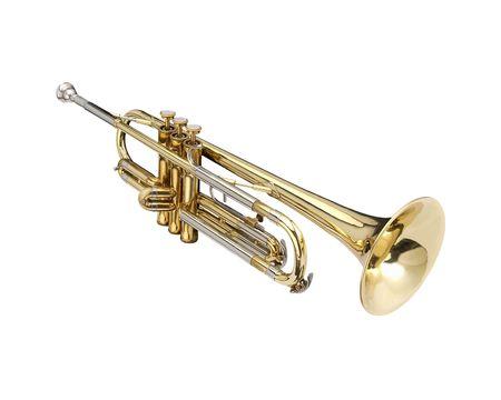 whithe: Trompeta, instrumento de viento. Whithe en un segundo plano.