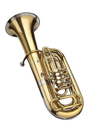 whithe: Tuba, instrumento de viento. En un segundo plano whithe