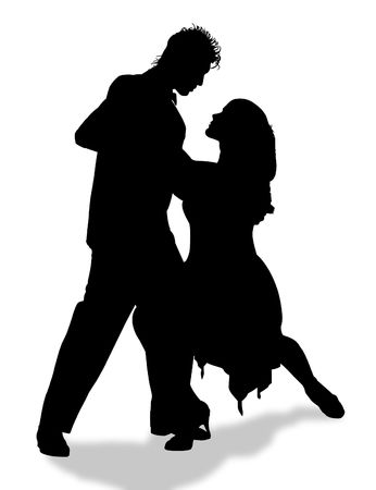 cadence: Young couple dancing Tango in the street