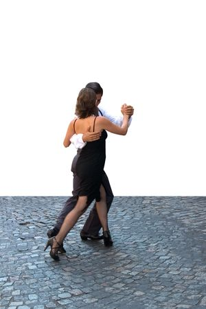 Young couple dancing Tango in the street Stock Photo - 4952694