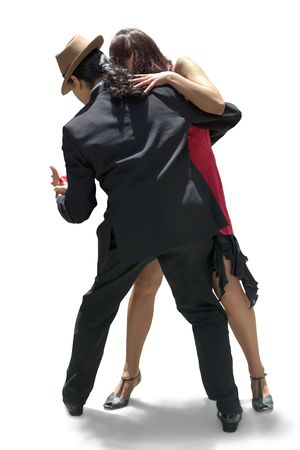 argentina: Young couple dancing Tango in the street