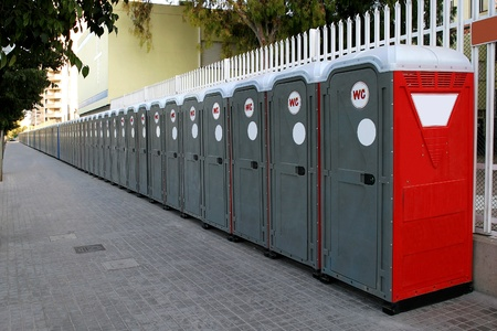 Portable chemical toilets for quantities of public or sporting events