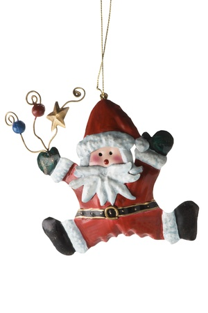 tinplate: Tinplate Santa Claus, isolate on a white background.