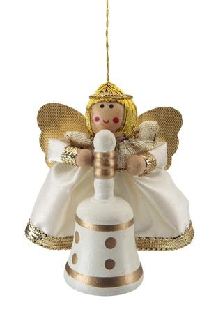 Angel, adornos para �rboles de Navidad, recorta sobre un fondo blanco. Stock Photo - 11097152