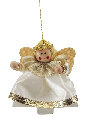 Angel, ornaments for Christmas trees, cut out on a white background