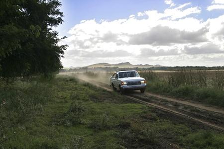Camino rural del campo Stock Photo