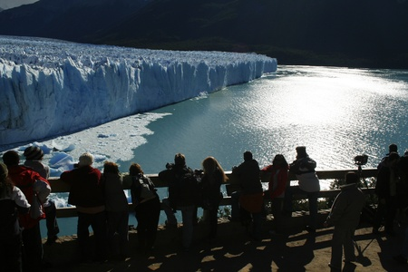 Perito Moreno Glacier in Los Glaciares National Park, located in El Calafate, Argentina. photo