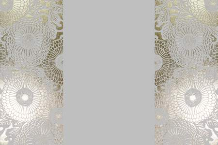 Elegant white and gold foil blank sign background stationery