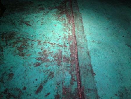 grunge: Grunge stained floor Stock Photo