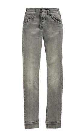 skinny jeans: Gris skinny jeans, aislados en fondo blanco Foto de archivo