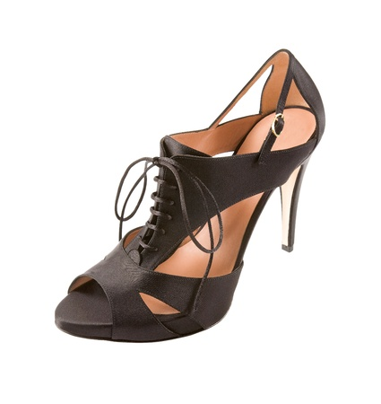 peep toe: High heel sandal, isolated on white background. Clipping path included.