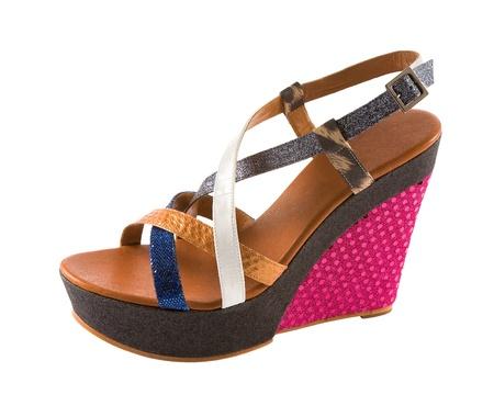 Wedged flatform sandal isolated on white background Stock Photo - 18607551