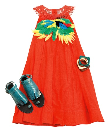 sioux: Ethnic still life fashion composition isolated on white background. Clipping path included.