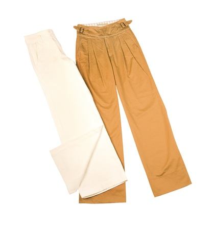 slacks: Wide leg pants isolated on white background  Clipping path included