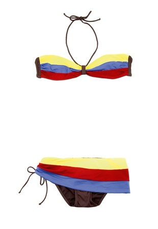bandeau: Color bands bandeau bikini isolated on white background  Clipping path included