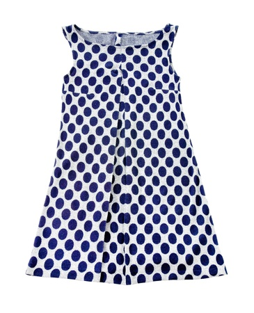 Empire line polka dots tank dress isolated on white background
