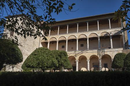 PIENZA - TUSCANY  ITALY, OCTOBER 30, 2016: Palazzo Piccolomini, one of the first examples of Renaissance architecture in Pienza, Val DOrcia - Tuscany Italy