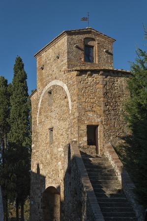 san quirico: SAN QUIRICO DORCIA, ITALY - OCTOBER 30, 2016: San Quirico dOrcia, Tuscany - Italy