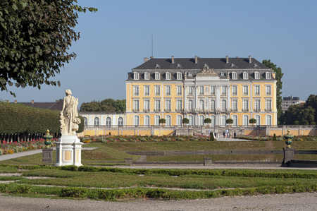 The Baroque Augustusburg Castle is one of the first important creations of Rococo in Bruhl near Bonn, North Rhine Westphalia - Germany. Since 1984 it is in the list of World Heritage Sites. Editorial