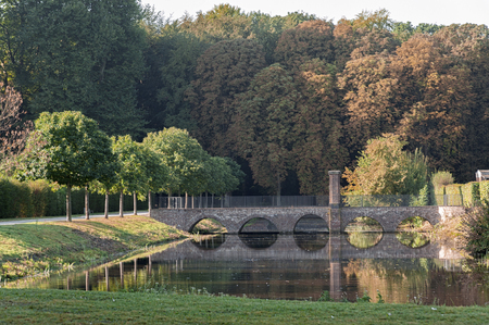Park of the Baroque Augustusburg Castle is one of the first important creations of Rococo in Bruhl near Bonn, North Rhine Westphalia - Germany.