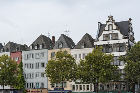 COLOGNE, GERMANY - SEPTEMBER 11, 2016: Colorful houses in Bavarian style in the old town of Cologne, North Rhine-Westphalia - Germany Editorial