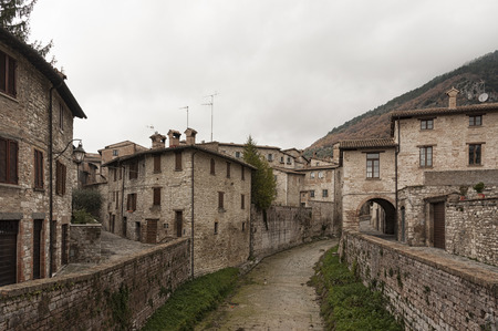 Gubbio, one of the most beautiful medieval towns in Europe, in the heart of the Umbria region, Perugia Province central Italy