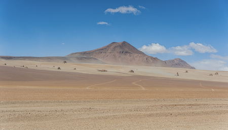 Panoramic view over the Salvador Dali Desert in the Eduardo Avaroa Andean Fauna National Reserve, Bolivia - South America Stock Photo
