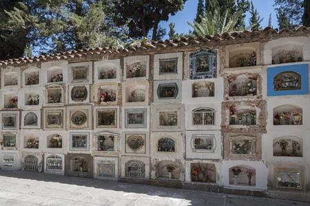수크레, 볼리비아 -2007 년 8 월 7 일 : 그레이 브에 시에라리오 시립 묘지 수크레, 볼리비아